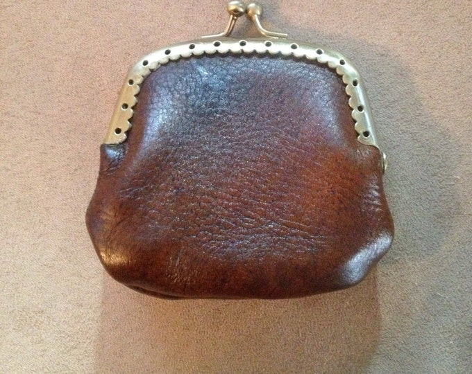 Custom leather coin purse