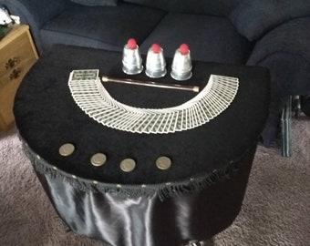 Large half round magic table