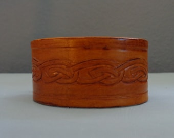 Leather Cuff by Artrix Leather and Fine art -Celtic Knot