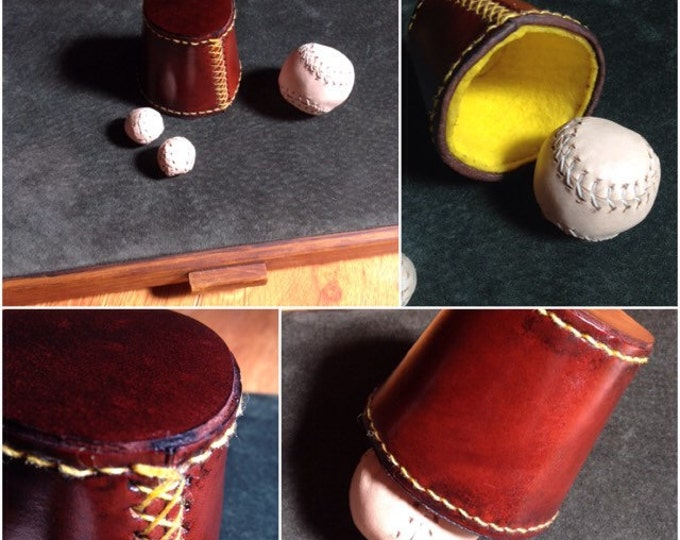 Mini Leather Chop Cup Set