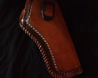Custom Leather Revolver Holster- Holster Only