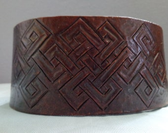 Leather Cuff by Artrix Leather and Fine art -Celtic Warrior Leather Cuff