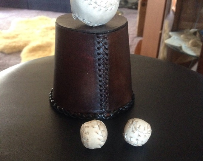 Custom Leather Chop Cup Set