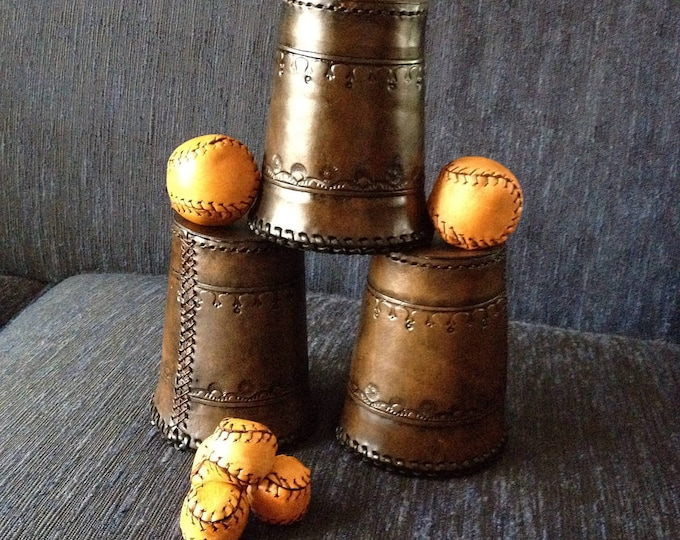 Leather Cups and Balls
