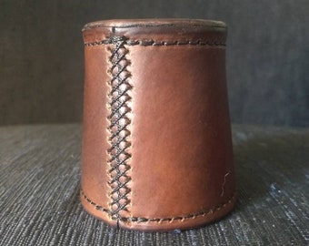 Custom leather chop cup- no balls