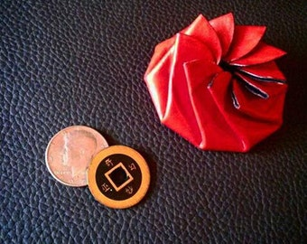 Leather Pinwheel Coin Purse