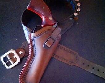 Custom Leather Revolver Holster Combo Set