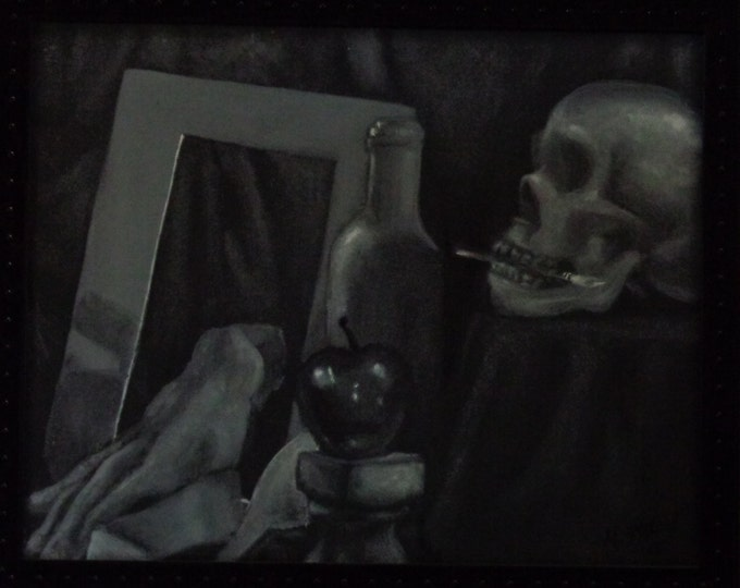 Acrylic Painting by Mike Armstrong- Artist's Demise
