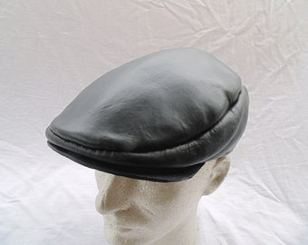 Leather Flat Cap, Newsboy Cap, Ivy Cap by Artrix Leather and Fine Art