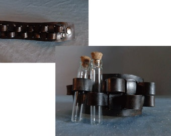 Leather Cuff by Artrix Leather and Fine art - Bandolier Cuff