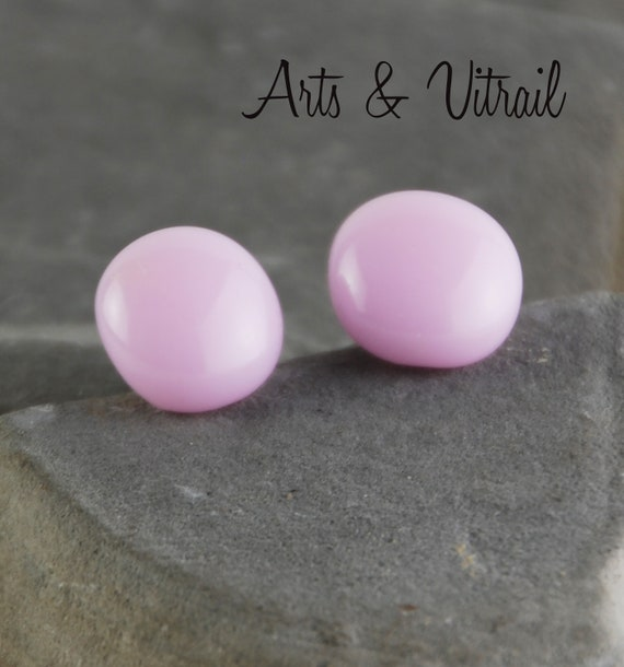 Pink Earring, stud Hypoallergenic, Stainless Steel, Minimalist Jewel for Women or Girls