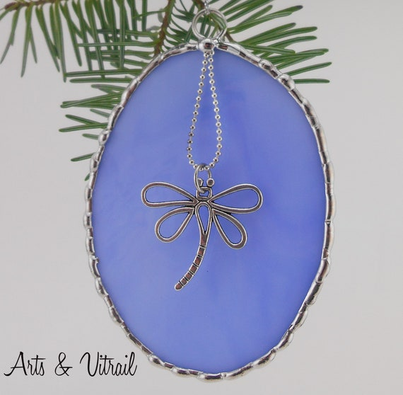 Stained Glass Christmas Ornament,  Pendant, decorative solder