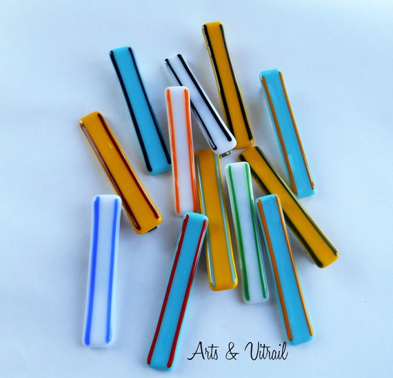 Glass Labels, 3 Labels of Glass (White, Yellow and Turquoise), Original and Reusable for Spiral Notebook