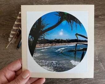 Noosa Main Beach Photo Card, Blank Photo Card, Beach Photo Card, Australian Beach Greeting Cards, Noosa Beaches, Summer Days, Beach Swim