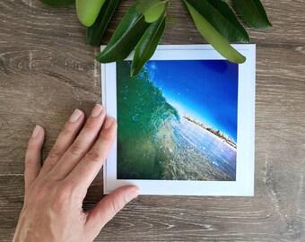 Kings Beach Photo Card, Blank Photo Card, Beach Photo Card, Australian Beach Greeting Cards, Caloundra Beaches, Summer Days, Beach Swim