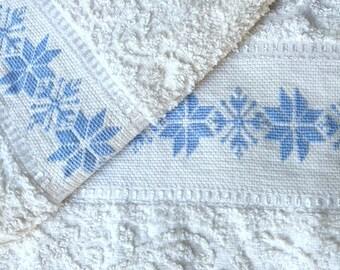 Cross Stitch embroidered towel Set-gift idea