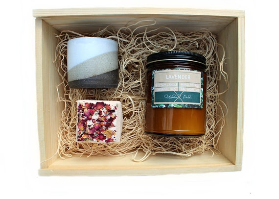 Enlightened spaces gift set spa gift baskets bath gift etsy image 0 solutioingenieria Image collections
