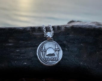 EID MAR Ancient Coin Necklace, Silver Necklace, Coin Necklace, Ancient Roman Coin, Gift, Boho Necklace, Hipster Necklace Roman Coin Necklace