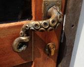 Steampunk vintage Octopus door handle