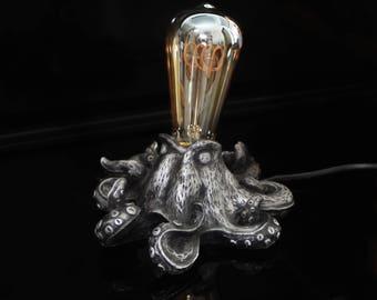 Octopus lamp Steampunk vintage