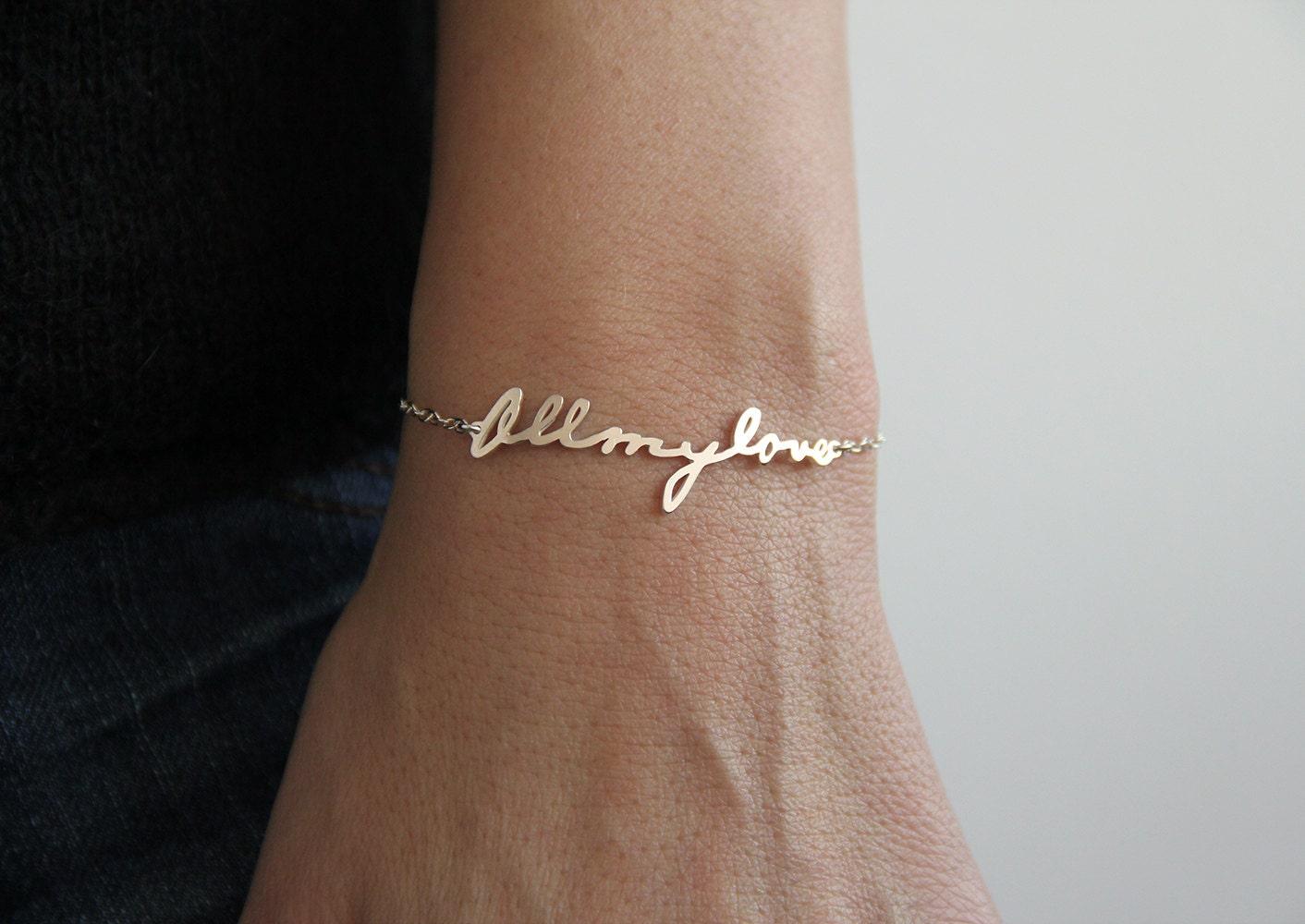 b40a024e4 Elegant Custom Name Bracelets name bracelets