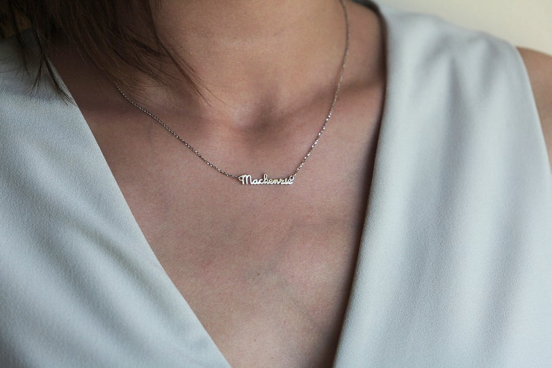 55488b147a75b Personalized Gold Name Necklace Initial Necklace Gold