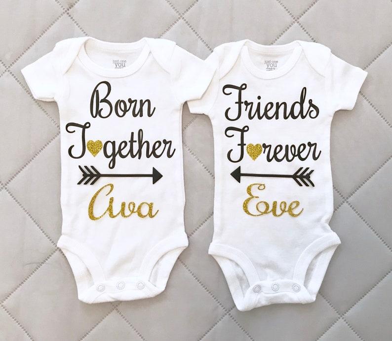 f1fa19f64 Twin Girls Onesie Twins Onesie Twins Baby Gift Newborn   Etsy