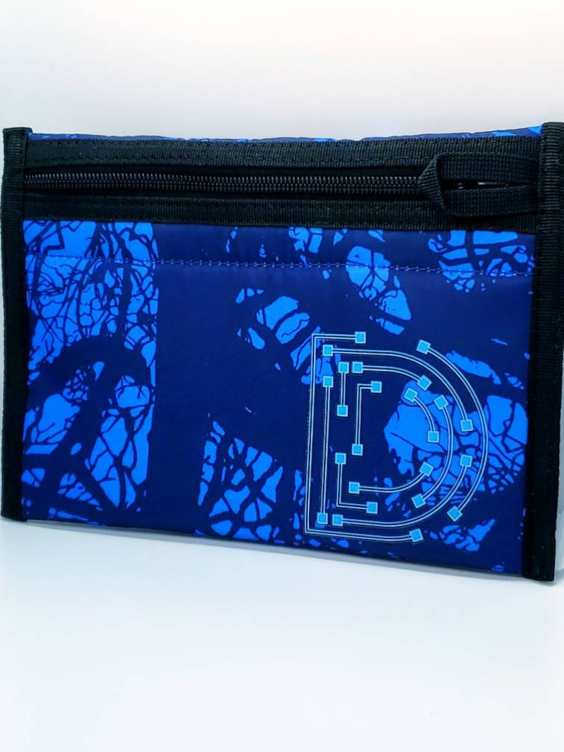Smell Proof BagPouch Herb Container Blue Cyberpunk