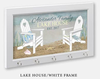 Personalized Lake House or Beach House Key Holder Lake House Beach House  Sign Lake Decor Lake Signs Lake Art Lake House Decorations 27d4613d69