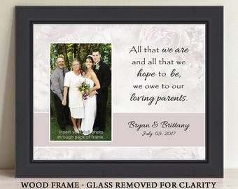 All That We Are Picture Frame Parents Wedding Gift