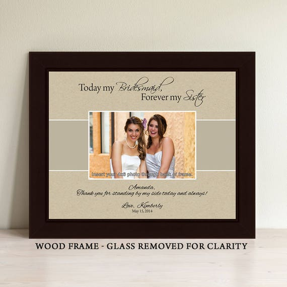 Bridesmaid Frame Maid of Honor Frame Personalized Gifts | Etsy