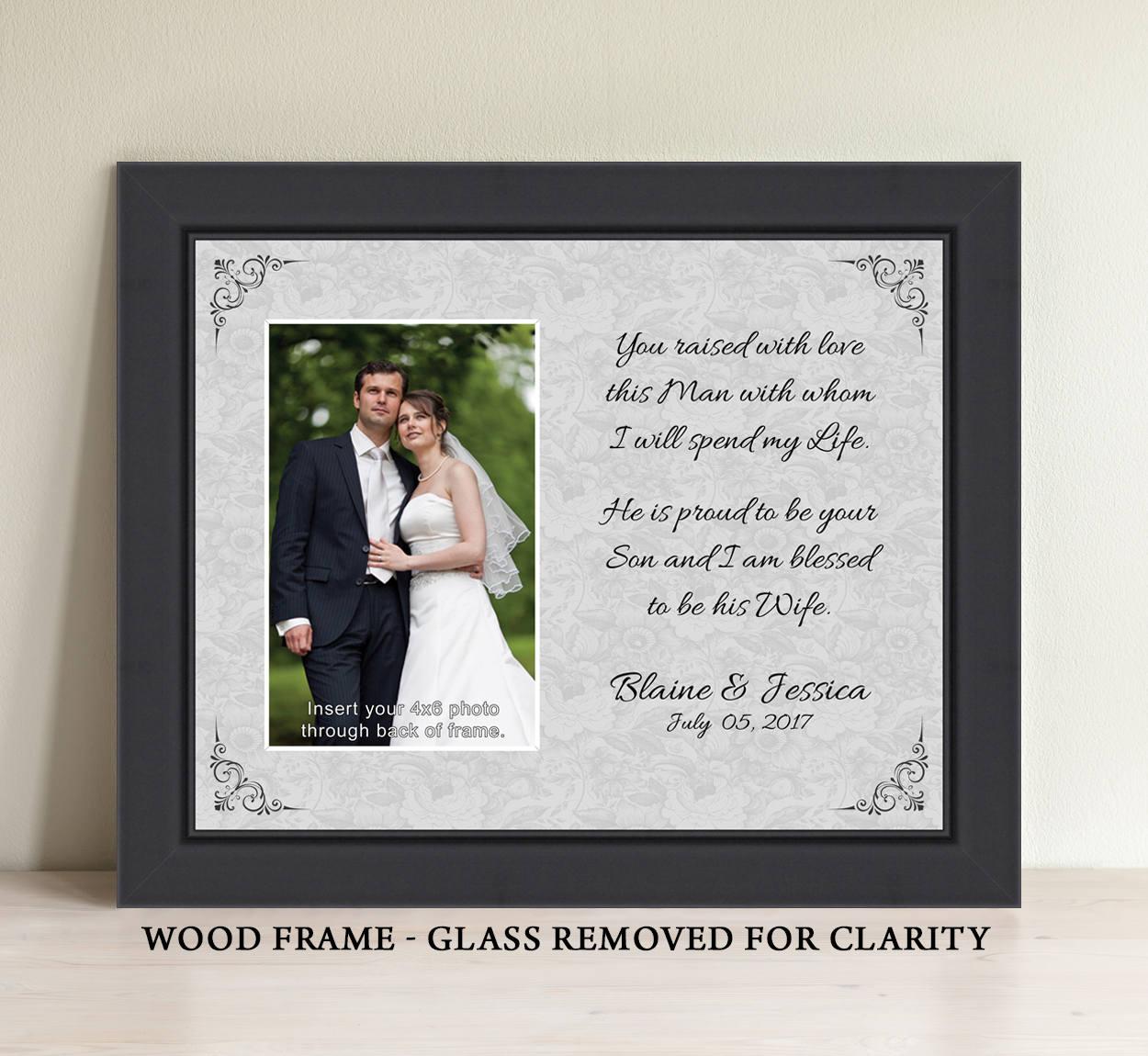 Eltern Hochzeitsgeschenk Bilderrahmen Eltern des Bräutigams