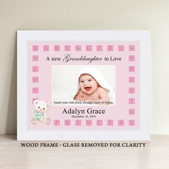 Personalized Baby Girl Picture Frame Baby Gift Personalized