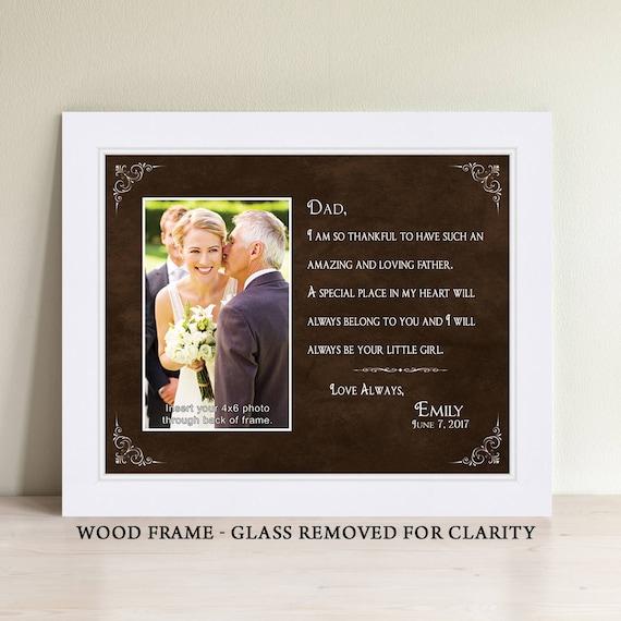 Father Of The Bride Gift Bridal Wedding Frame Dad Wedding Etsy