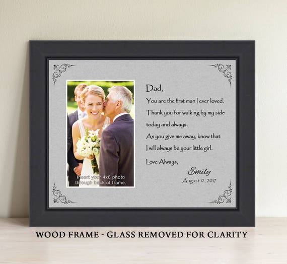 Father Of The Bride Gift Dad You Are The First Man I Ever Etsy