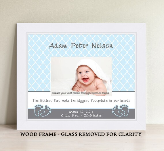 Personalized Baby Boy Picture Frame Baby Gift Personalized Etsy