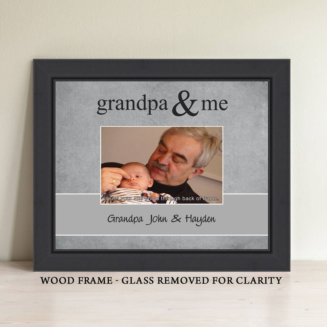 Grandpa Gift Personalized Grandpa Picture Frame Grandparent | Etsy