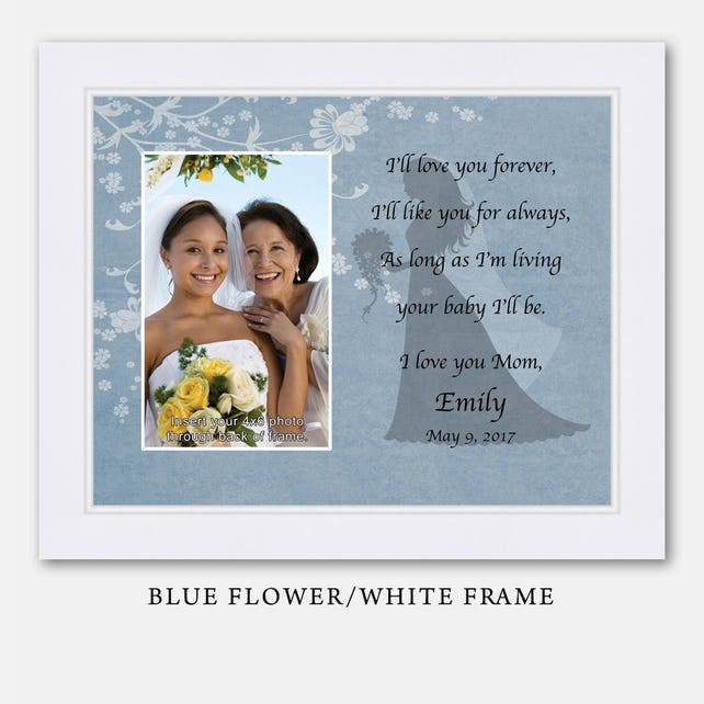 Mother Daughter Wedding Frame Bride Personalized Picture Frame Ill