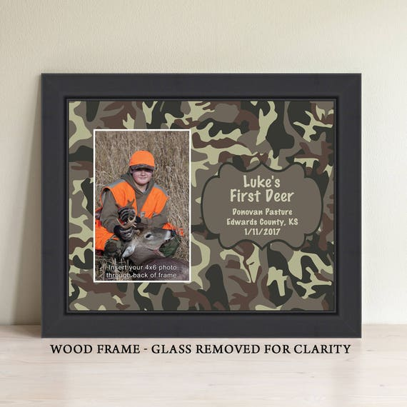 My First Deer Picture Frame Camo Camoflauge Camouflage Etsy