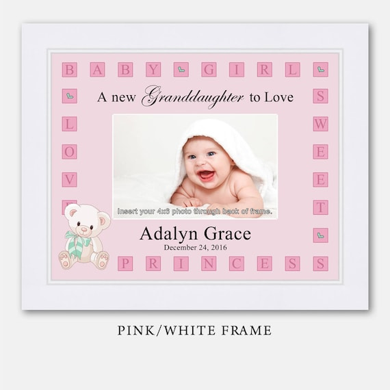 Personalized Baby Girl Picture Frame Baby Gift Personalized | Etsy