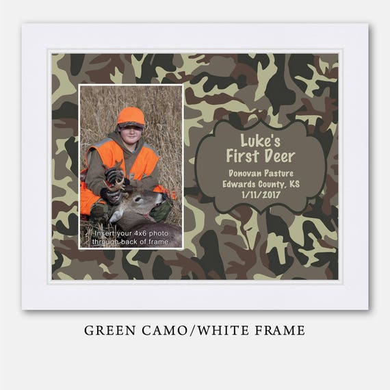My First Deer Picture Frame Camo Camoflauge Camouflage