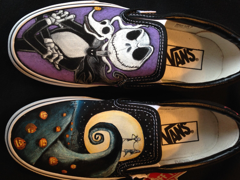 Disney\'s Nightmare Before Christmas Hand painted Vans | Etsy
