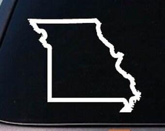 "MISSOURI state 6/"" sticker decal car truck window college football basketball"