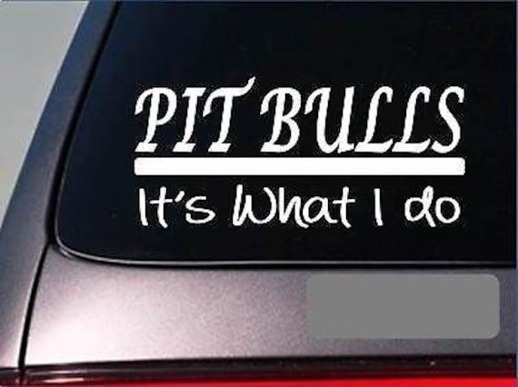 Pit bulls sticker decal *E269* american bully pit bull blue amstaff