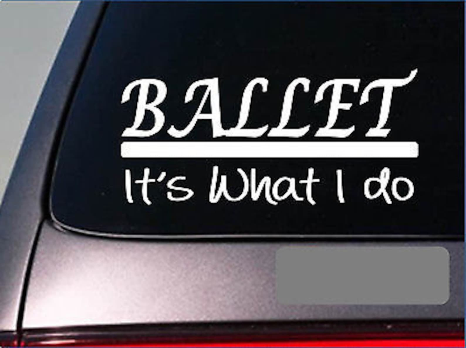 ballet sticker decal *e366* dance shoes dancer