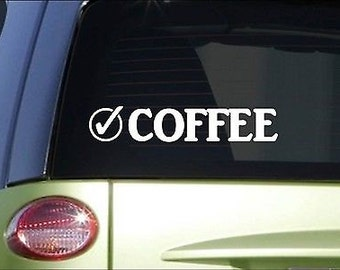 "Coffee Check *I036* 8"" Sticker Decal Shot Espresso Mocha Cappuccino Machine Mug"