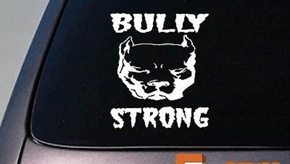 American Bully Bone L053 dog 8 inch Pit bull sticker Window Decal