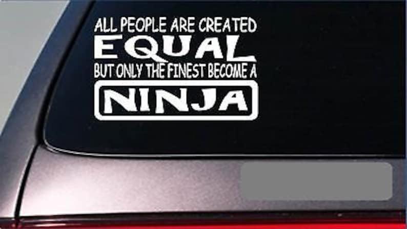 Ninja Equal Sticker *G698* 8