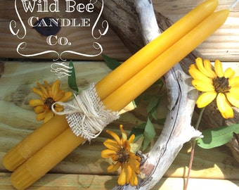 4 Beeswax Tapers