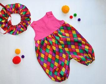 Circus Baby Clown Romper | Circus Costume | Kids Costume | Baby Costume | Carnival | Halloween | Circus Party | Photo Shoot